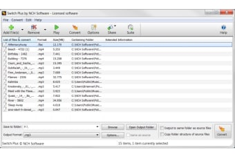 Switch Plus Audio File Converter