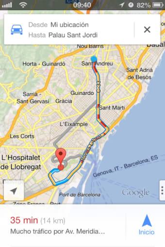 Google Maps - Transit  Food