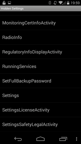 Hidden Android Settings