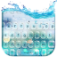 Glass water keyboard theme