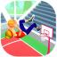 Flip basketball Dunk