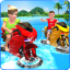 Kids Water Surfing Bike Racing
