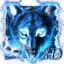 3D Blue fire Ice wolf launcher theme