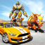 Futuristic Rhino Robot Car Transformation Game