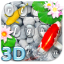 Live 3D Koi Fish Keyboard Theme