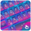 Neon Blue Purple Keyboard Theme