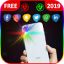 Brightest color flashlight on call and sms alert