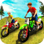 Kids Downhill Mountain Motorbike Riding