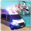Offroad Police Flying Helicopter Ambulance 3D Game