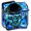 Neon Tech Skull Themes HD Wallpapers 3D icons
