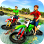 Kids Water Surfer Motorbike Racing - Beach Driving