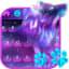 Night Sky Spirit Wolf Keyboard