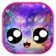 Galaxy Cute Smile Cat Keyboard Theme