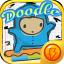 Doodle Blue Jumper Shoot-em Up