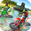 Beach Water Surfer Bike Racing