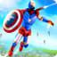 Captain Superhero Flying Robot Rescue