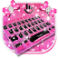 Pink Cute Minny Bowknot Keyboard Theme