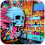 Graffiti skull keyboard
