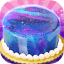 Galaxy Mirror Glaze Cake  Sweet Desserts Maker
