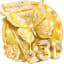 3D Gold Diamond Butterfly Theme
