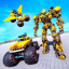 Flying Monster Truck Driving: Robot Transform Game