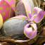 Fond d'écran œufs de Pâques colorés