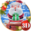 Cute Santa Christmas Keyboard Theme
