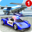 US City Police Car Transport Airplane