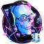 3D DJ Skull  Rock Music Theme