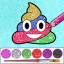 Glitter Emoji Coloring And Drawing