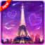 Amorous Eiffel Sunset Live Wallpaper
