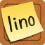 Lino-share sticky notes and photos!