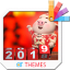 New year pig19 Xperia Theme