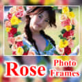 Beautiful Rose Flower Photo Frames Greeting Cards