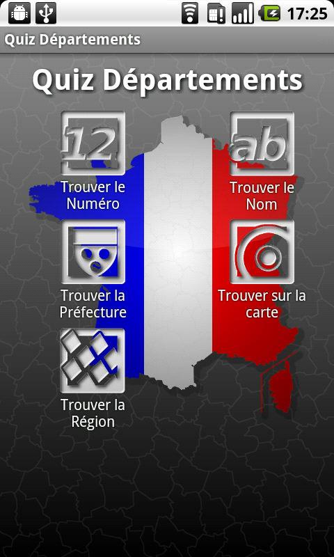 Top Quiz Départements Français pour Android - Télécharger CM57