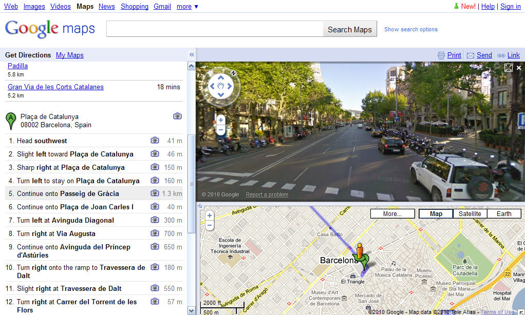 how to turn google maps online