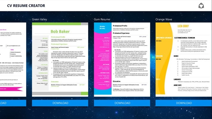 CV Resume Creator Download