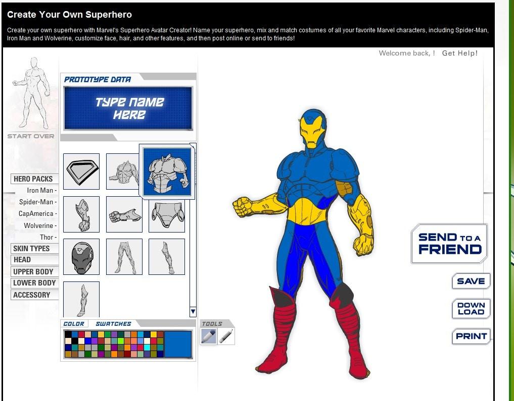 marvel create your own superhero online. Black Bedroom Furniture Sets. Home Design Ideas