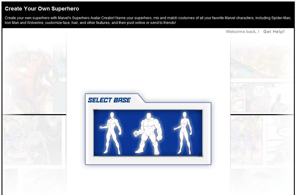Marvel create your own superhero online for Design your own building online