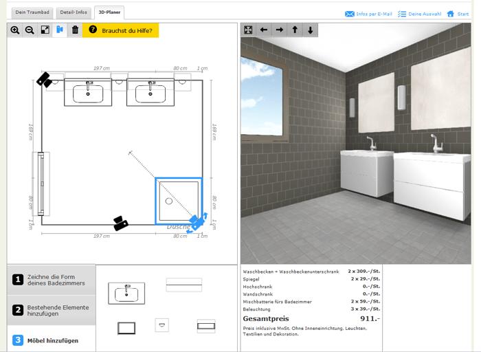 badezimmer planer. Black Bedroom Furniture Sets. Home Design Ideas