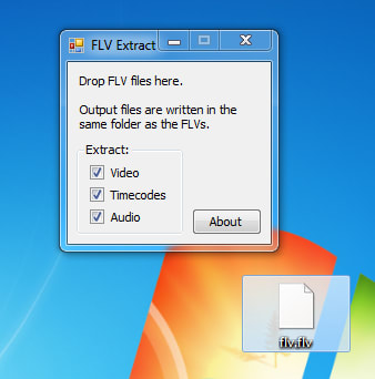 how to use flv extract