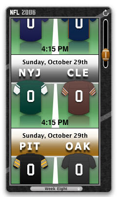 2006 NFL Widget