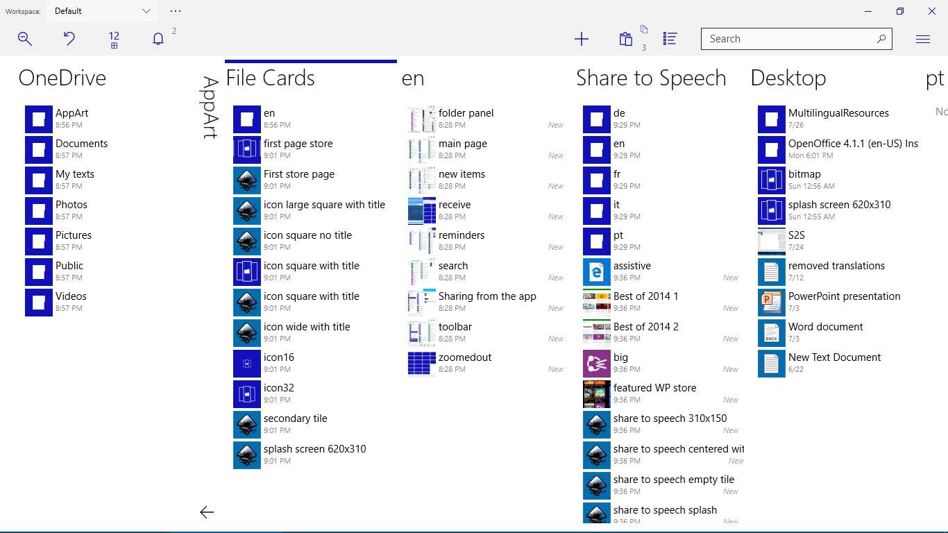 File cardsModern file manager suite