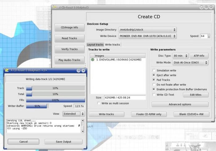 cdrtools DVD Extensions
