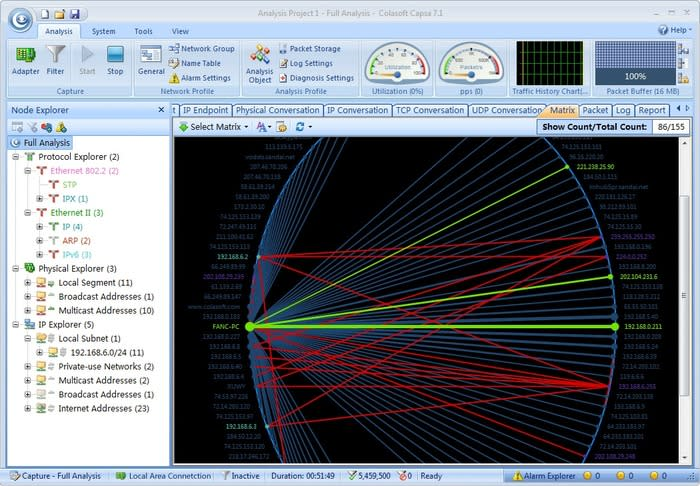 Colasoft Capsa Network Analyzer Free Edition