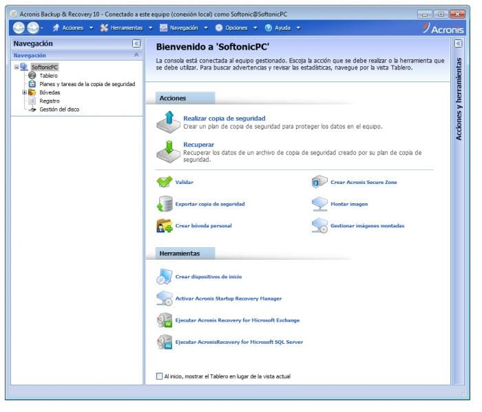 Acronis Backup for PC