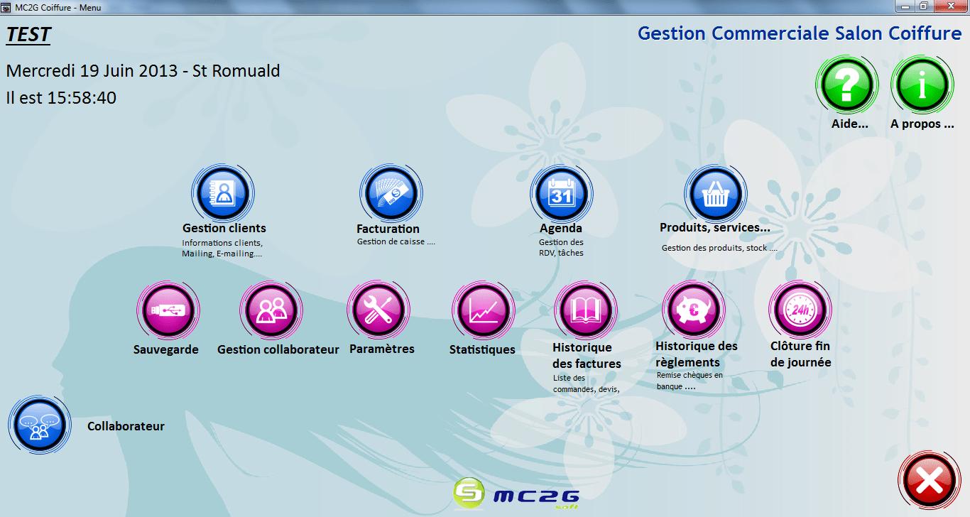 Logiciel Coiffure MC2G