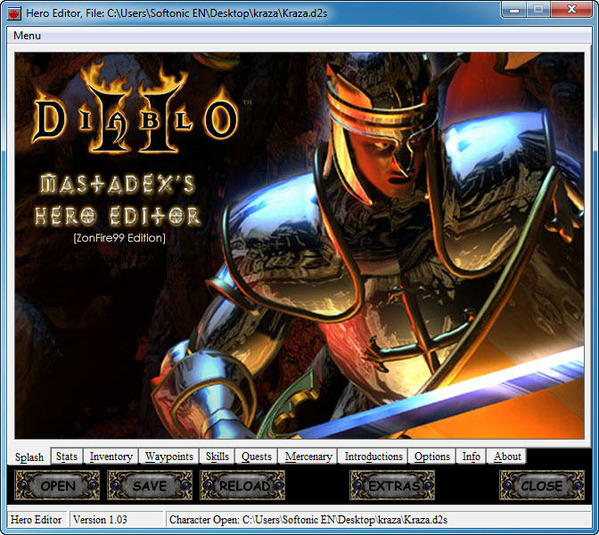 Hero Editor do Diablo 2 1.03