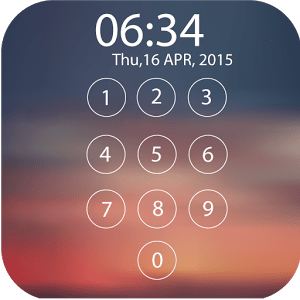 Lock screen password