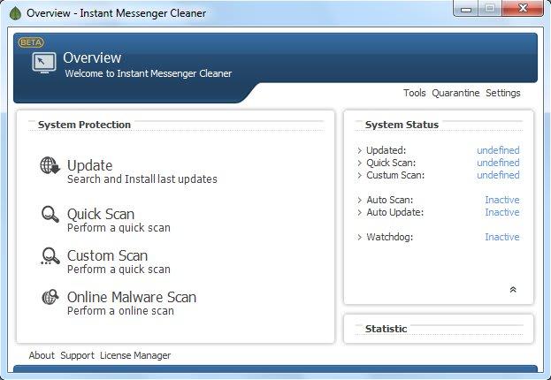 Instant Messenger Cleaner (ex MSN Virus Cleaner)